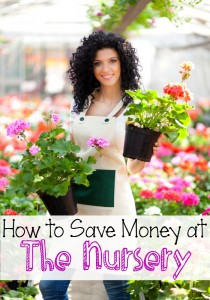 how to save money at the nursery
