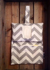 grey_Chevron_Diaper_Clutch_Open