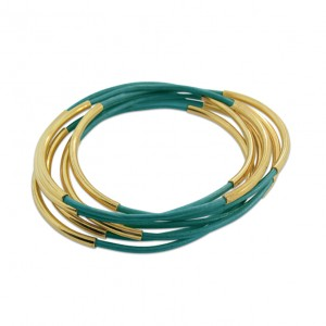 Leather Bangles-Turquoise HR CROP