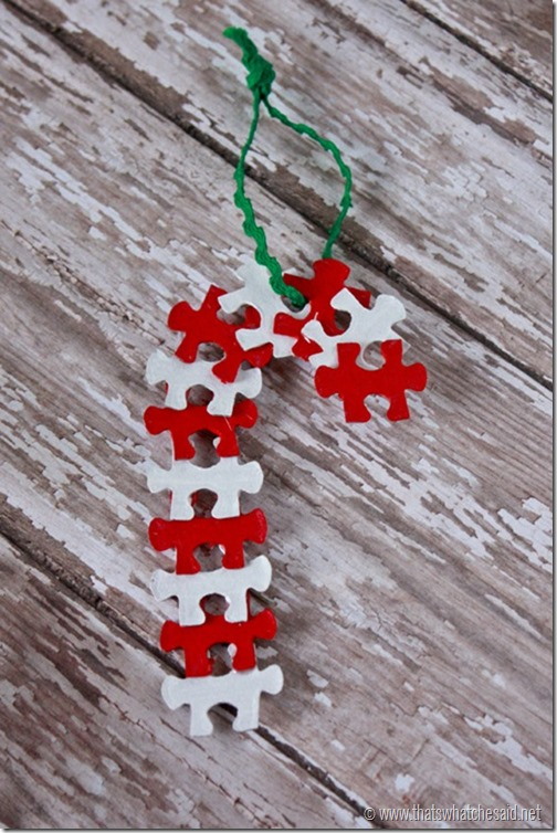 6 christmas ornament crafts to make with your kids for Candy cane crafts for adults