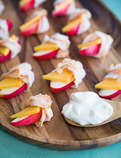 ham and cheese apple wraps
