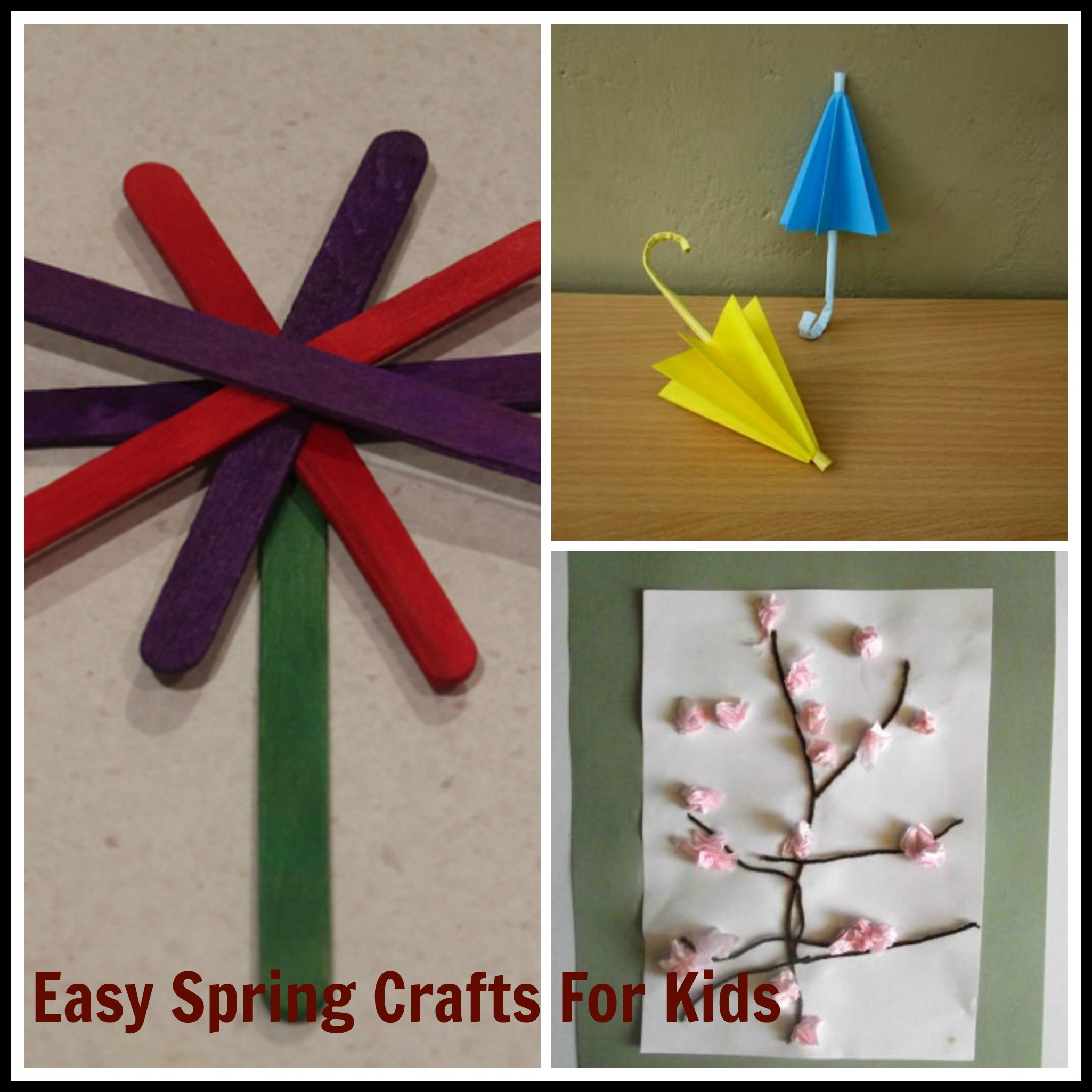 Easy Craft Ideas For Kids With Paper Part - 44: Easy Spring Craft Ideas For Kids